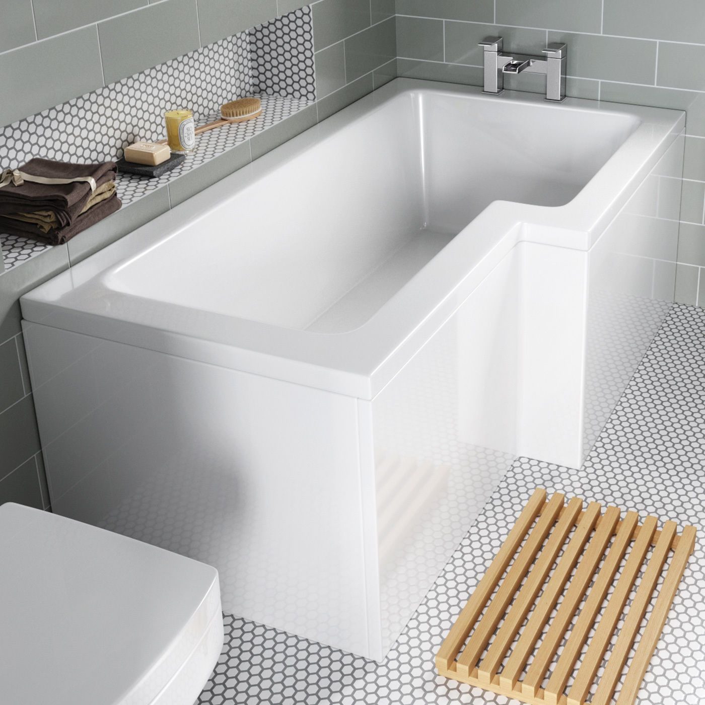 L Shaped Shower Bath 1700.L Shaped Shower Bath Tub Bathroom Right ...